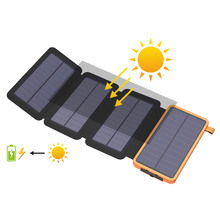 Solar Power Bank 20000mAh 5W Panel Powerbank External Battery Charger for iPhone iPad Samsung LG HTC Sony ZTE.