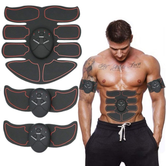 Smart EMS Muscle Trainer Electric Muscle Stimulator Wireless Buttocks Hip Abdominal ABS Stimulator Fitness Slimming Gel Massager 5