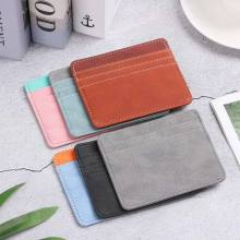 Wallet Women Bank Id-Card-Holder Candy-Color 1pc Pu Box Multi-Slot