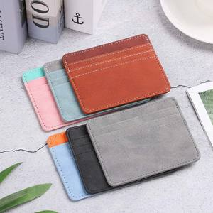 1Pc Pu Leather ID Card Holder Candy Color Bank Credit Card Box Multi Slot Slim Card Case Wallet Women Men Business Card Cover
