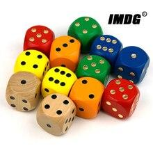 1 шт. деревянные кости 40 мм большие цветные твердые деревянные точки игры закругленные игральные кости для игры на выпивку