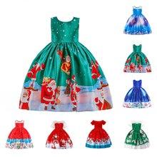 Vertvie/платье для маленьких девочек; детское рождественское платье; детская зимняя одежда с рождественским принтом; вечерние платья принцессы на год; детская одежда