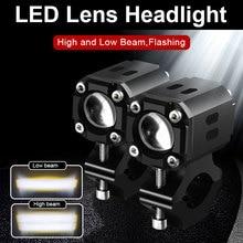 Motosiklet 70w LED Lens Hi/düşük yardımcı far spot lamba beyaz için Suzuki DR200SE DR650SE DRZ400E GS500F DRZ 400SM DR