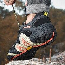 Уличная обувь для альпинизма, спортивная обувь для бега, сетчатая обувь, мужская обувь,, болотная обувь, летняя дышащая обувь, 75