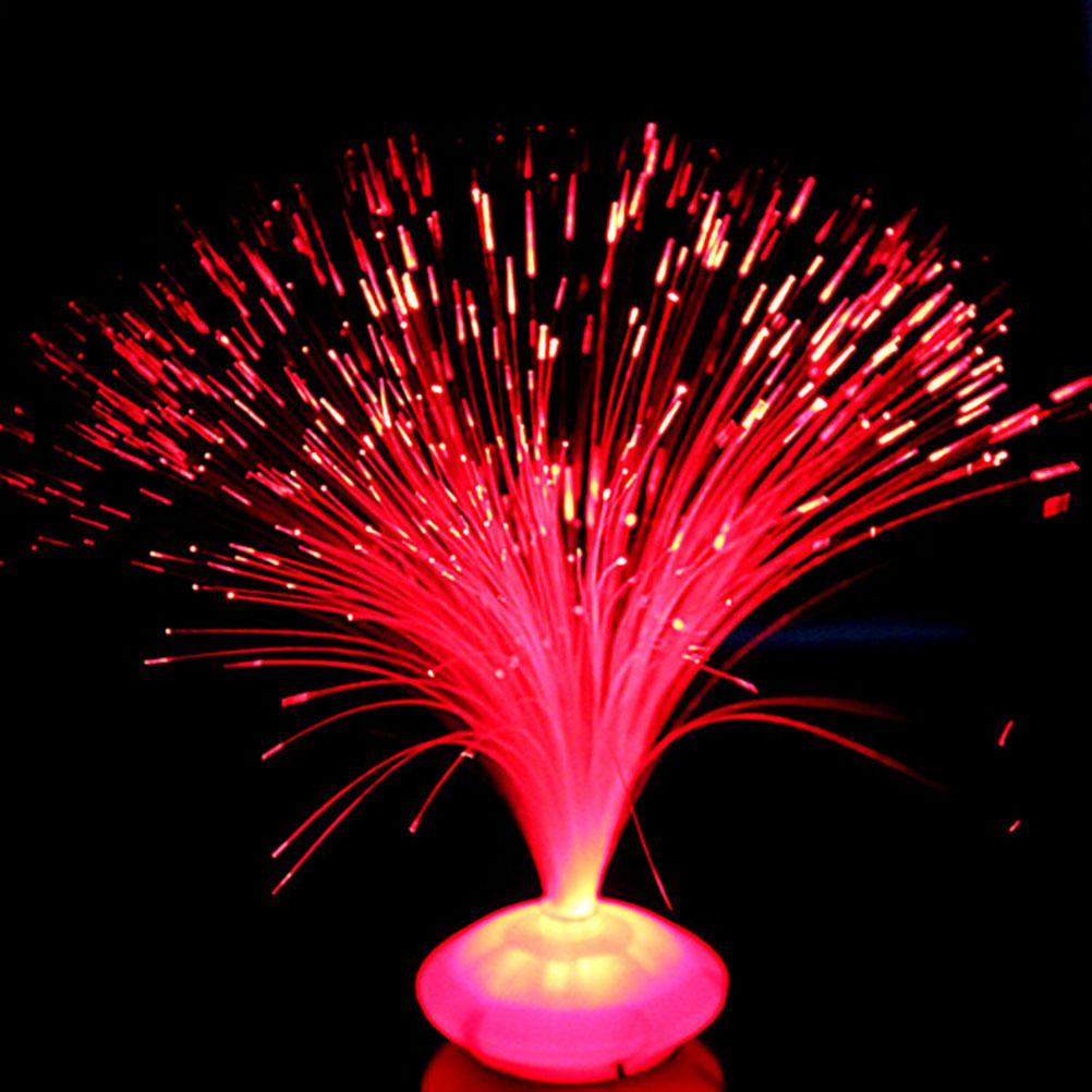 1PCS Beautiful Romantic Color Changing LED Fiber Optic Nightlight Lamp small night light Chrismas Party Home decoration
