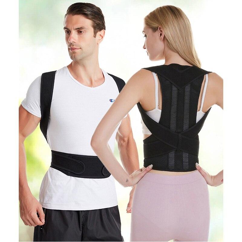 Adjustable Back Posture Corrector Spine Back Shoulder Lumbar Brace Support Belt Posture Correction Back Blet No Slouching