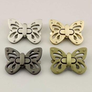 Metal Butterfly Bag Turn Lock Twist Clasp for Leather Craft Women Handbag Shoulder Purse DIY Hardware Accessories