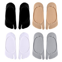 1 par de mulheres tornozelo 2 toe meias tabi esportes japonês unisex kimono flip flop sandália split dois toe meia