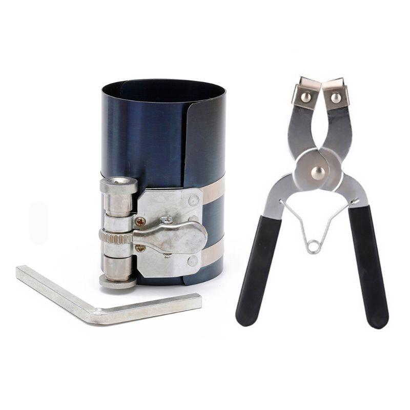 14 Bands Piston Ring Compressor Expander Cylinder Installer Plier Engine Tools