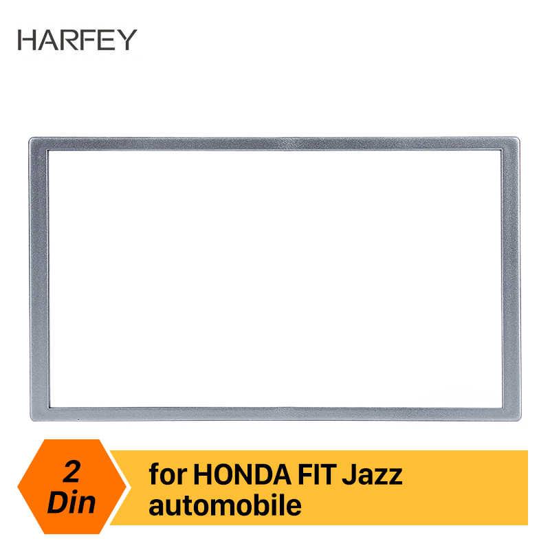Harfey Universal Car 2Din Panel Stereo wykończenie ramy dla HONDA FIT Jazz Accord C-RV HR-RV Odyssey Prelude Civic uchwyt do deski rozdzielczej 173*98mm