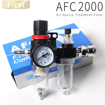 AFR2000 + AL2000 G1 / 4 AFC2000 air compressor oil water separator filter regulator  trap ac2000 02 g1 4 standard type air source treatment unit pneumatic lubricator filter regulator