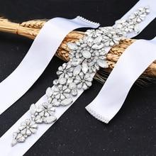 Belts Jewelry Female-Accessories Bride Wedding Women's Girl S325-P Luxurious-Sash Opal