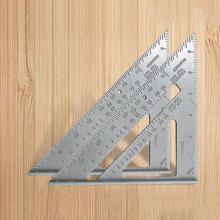 1Pcs 7 Inch Aluminum Alloy Measuring Ruler Speed Square Roofing Triangle Angle Protractor Trammel Measuring Tools High Quality