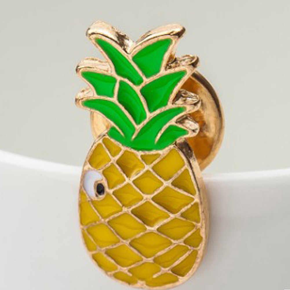 2018 Kemeja Kerah Pin Bros Lovely Mungil Buah Kartun Buah Lapel Pin Bros Kecil Cravat Mini Tombol Bros Kerah Bros