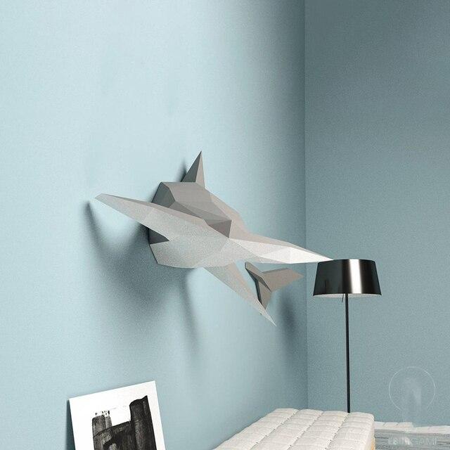 Swin Shark 132cm Paper 3D DIY Material Manual Creative Home Decor Props #6451 Hand Made Cute Geometric Paper Figures 2