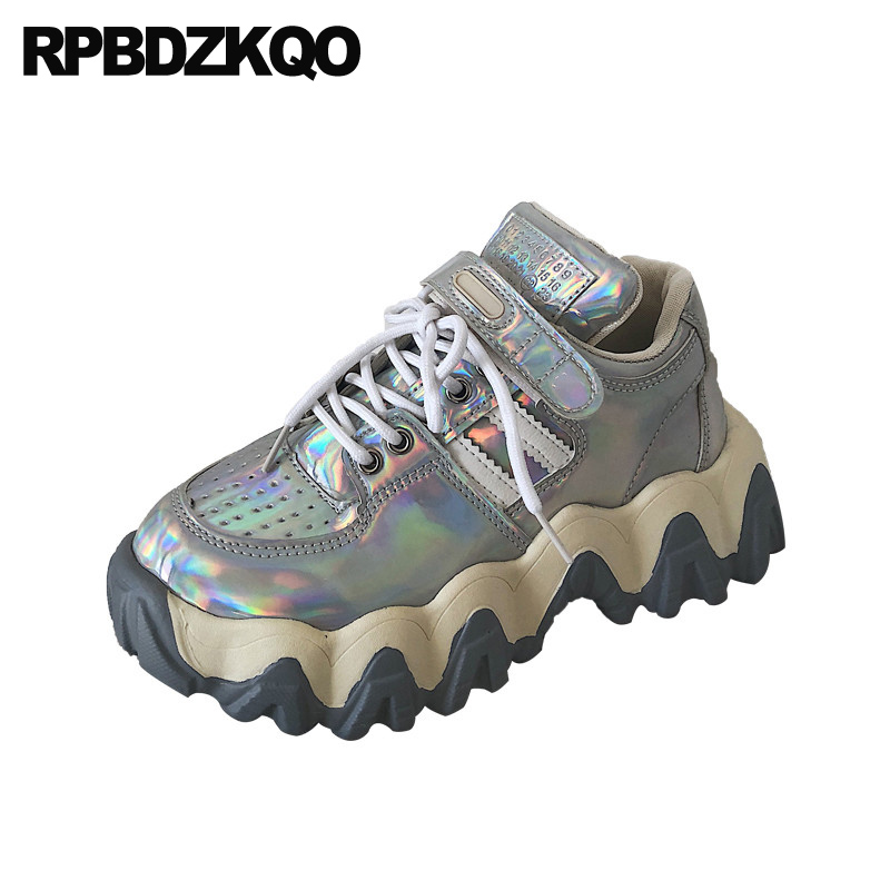 women thick sole trainers