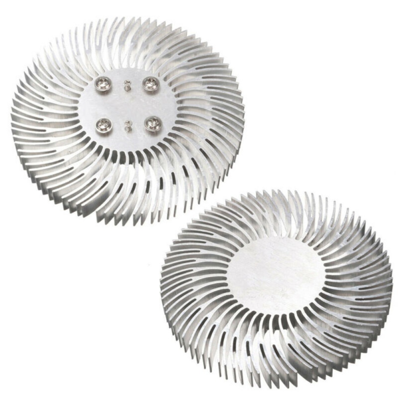 1pc Round Spiral Aluminum Heatsink Cooler Led Heat Sink Radiator 90*10mm For 10W High Power LED Light Lamp