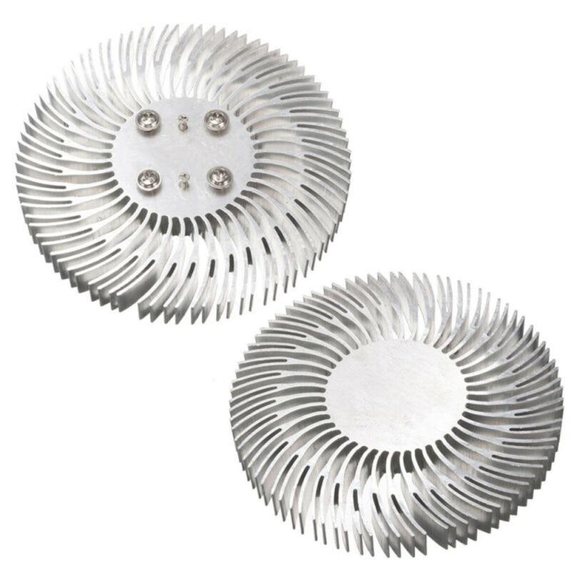 1pc Round Spiral Aluminum Heatsink Cooler Led Heat Sink Radiator 90*10mm For 10W High Power LED Light Lamp