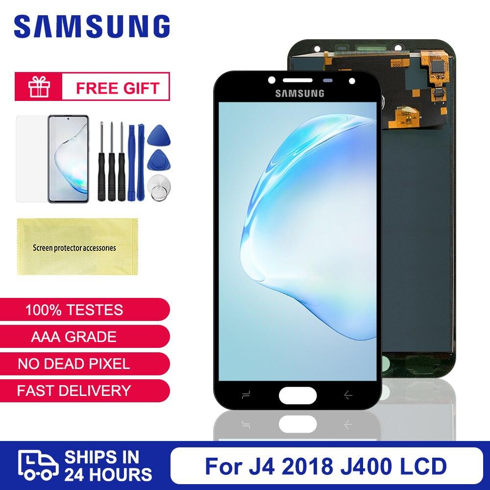 5.5 jjj4 lcd para samsung galaxy j4 2018 j400 j400f display lcd tela de toque j400f/ds substituição ajustável brilho