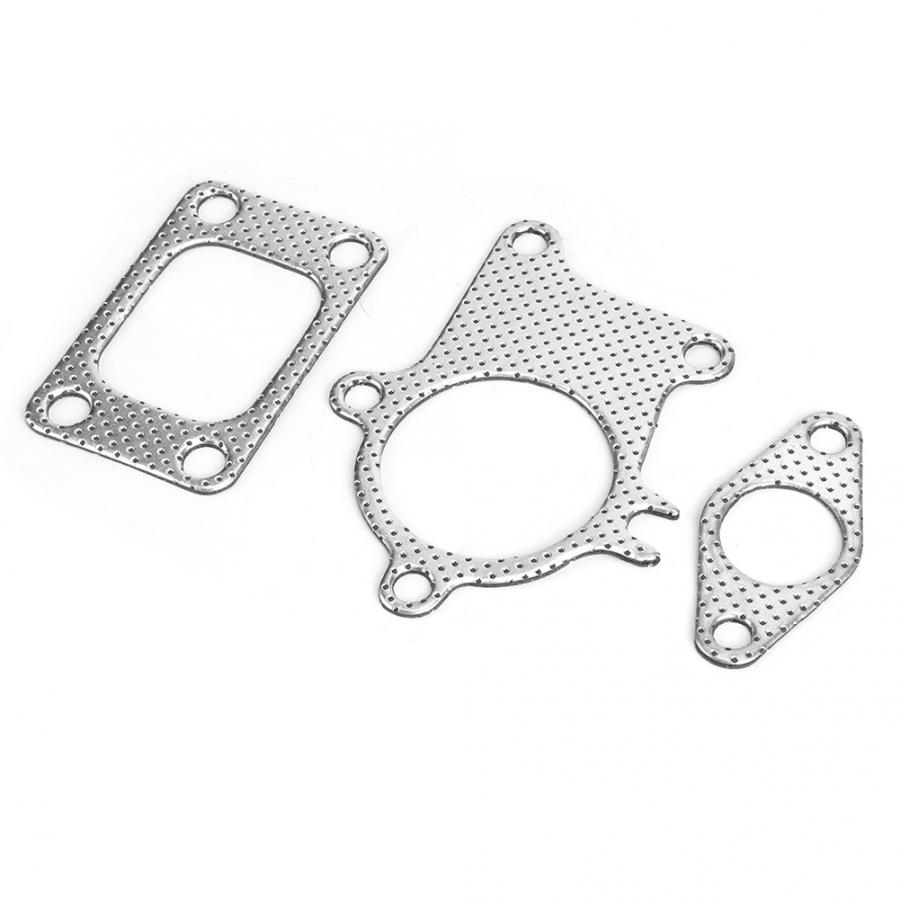 Turbocharger Gasket,38mm//1.5in Gasket 5Bolt Downpipe Combo Kit Fitting for T3//T4 Turbocharger