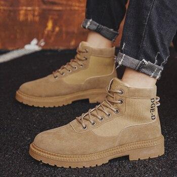 Men Casual Shoes Ankle Boots Black Chelsea Boots Zapatos De Hombre 6