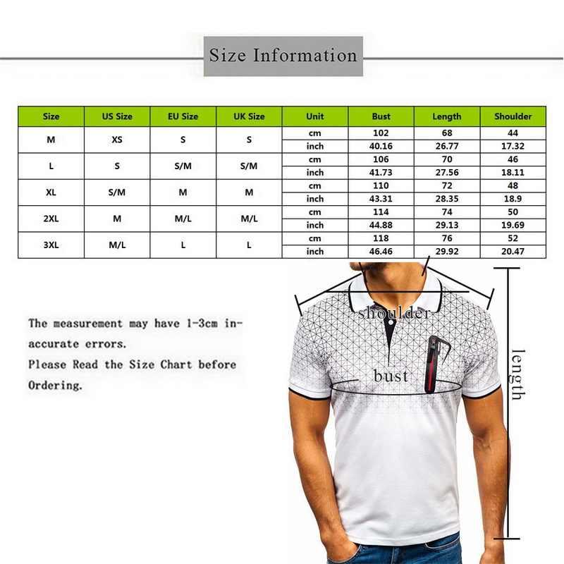 2020 여름 지퍼 폴로 셔츠 남성용 반팔 티셔츠 슬림 피트 폴로 슈미즈 옴므 야외 스포츠 폴로 카미 사 가짜 포켓