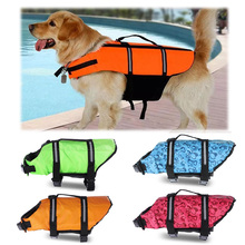 XS-XL Dog Life Jacket Rescue Swimming Wear Safety Clothes Vest Swimming Suit Outdoor Pet Dog Cat Float Doggy Life Jacket Vests
