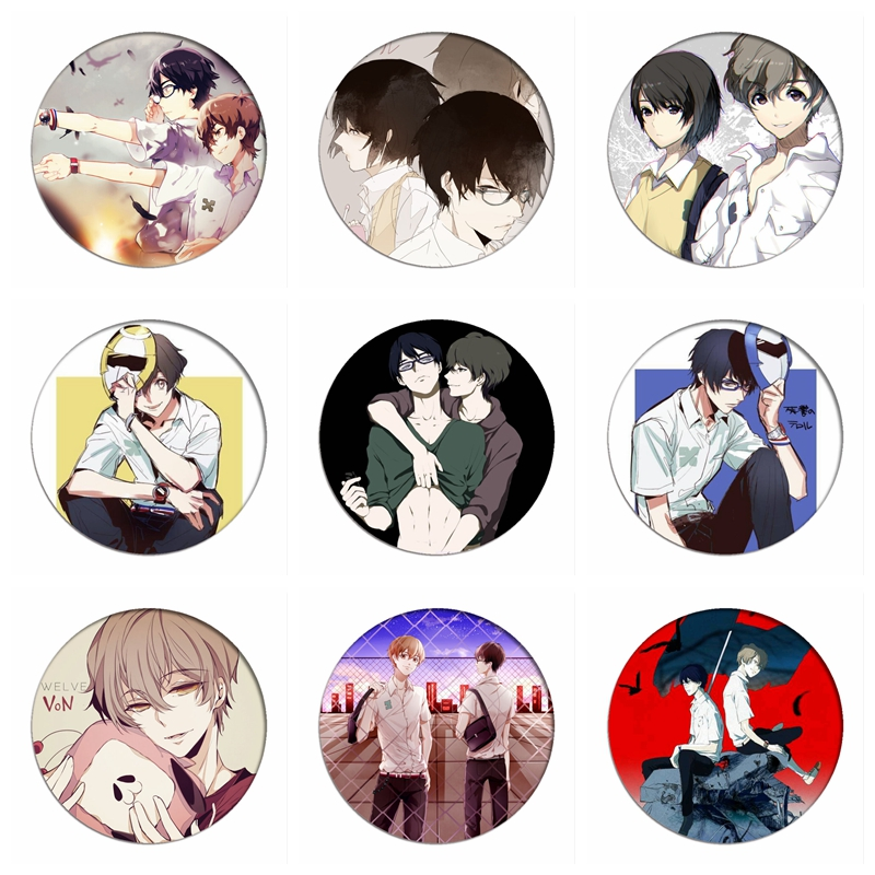 Zankyou No Terror Cosplay Badges NINE Brooch Icon Collection Bags TWELVE Lisa Breastpin For Backpacks Clothing