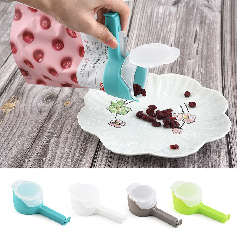 Seal Pour Food Storage Bag Clip Snack Fresh Food Sealing Clips with Nozzle Plastic Keeping Fresh Sealer Clamp Kitchen Gadgets