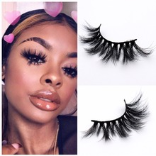 25mm 3D/5D Mink Lashes Wispy Fluffy Eyelashes Volume Crisscross Reusable False Makeup Eyelash Extension faux cils
