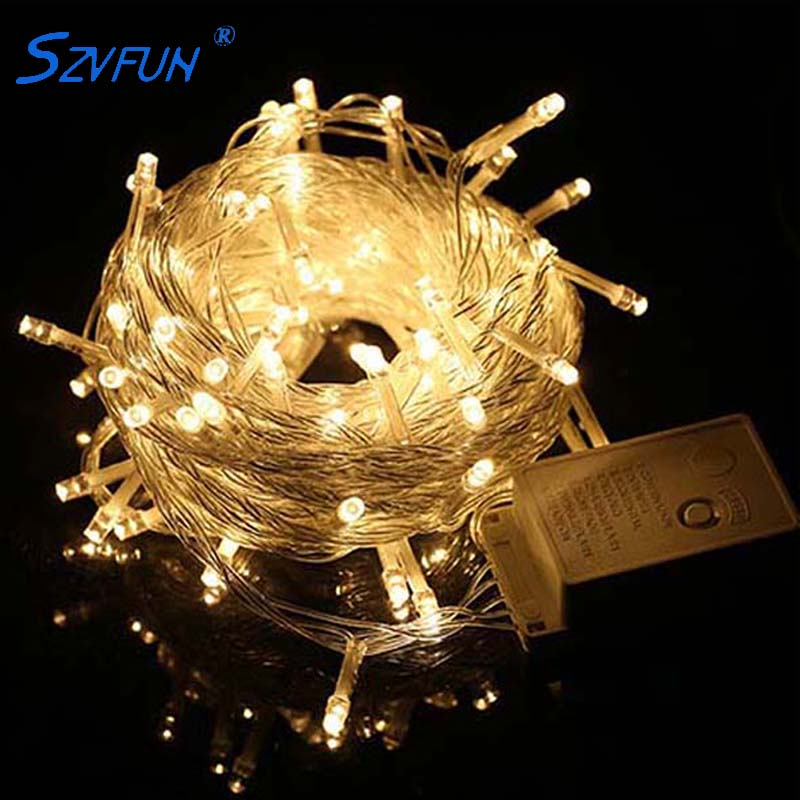 LED Fairy Lights Christmas String Lights Outdoor Garland 10M 20M 50M 100M Waterproof Wedding Party Holiday Tree Decorations 220V