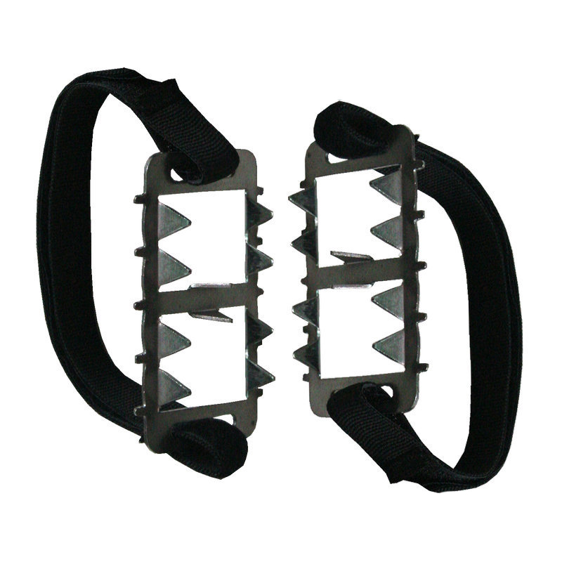 Crampons Stainless Steel Snowfield 10 26 Teeth Outdoor Climbing Ice Claw Anti skid Road Holding Travel Mountaineering Light Tool Climbing Accessories     - title=