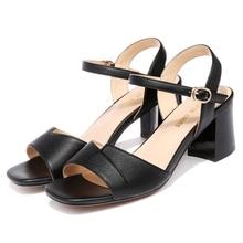 Shoes Woman Fashion Sexy Summer Women Sandals Buckle Strap High Heels Women Pumps Heels 6 cm Square Heels Sandals 2-9566 цена 2017