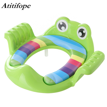 Potty Training Seat for Baby Kids Toddlers Toilet Potty Training Seat with Detachable Soft Cushion for boys and girls