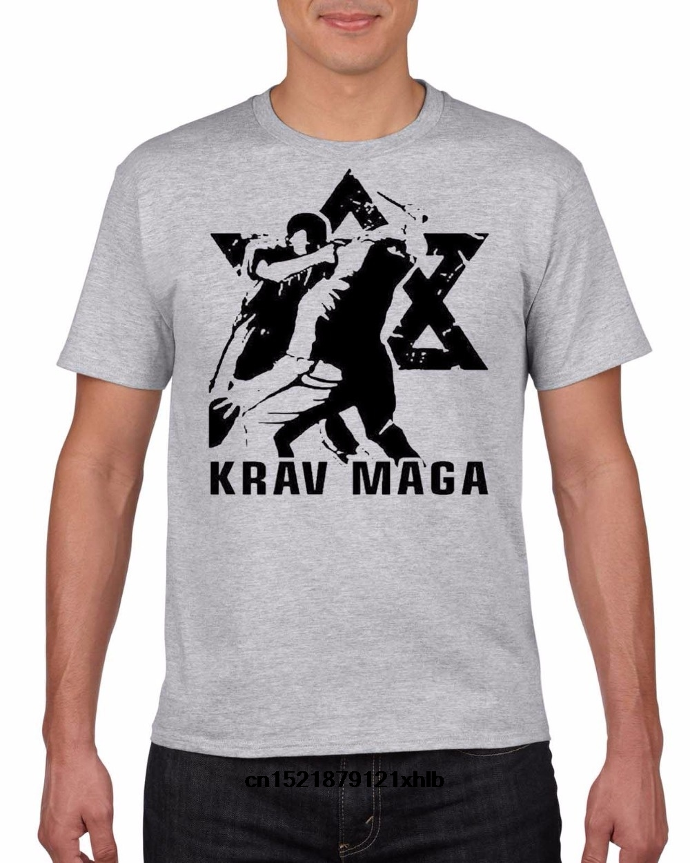 Aprom T-shirt Krav MAGA NA KM 2 arti marziali Self Defence Uomo MMA Freefight Israel