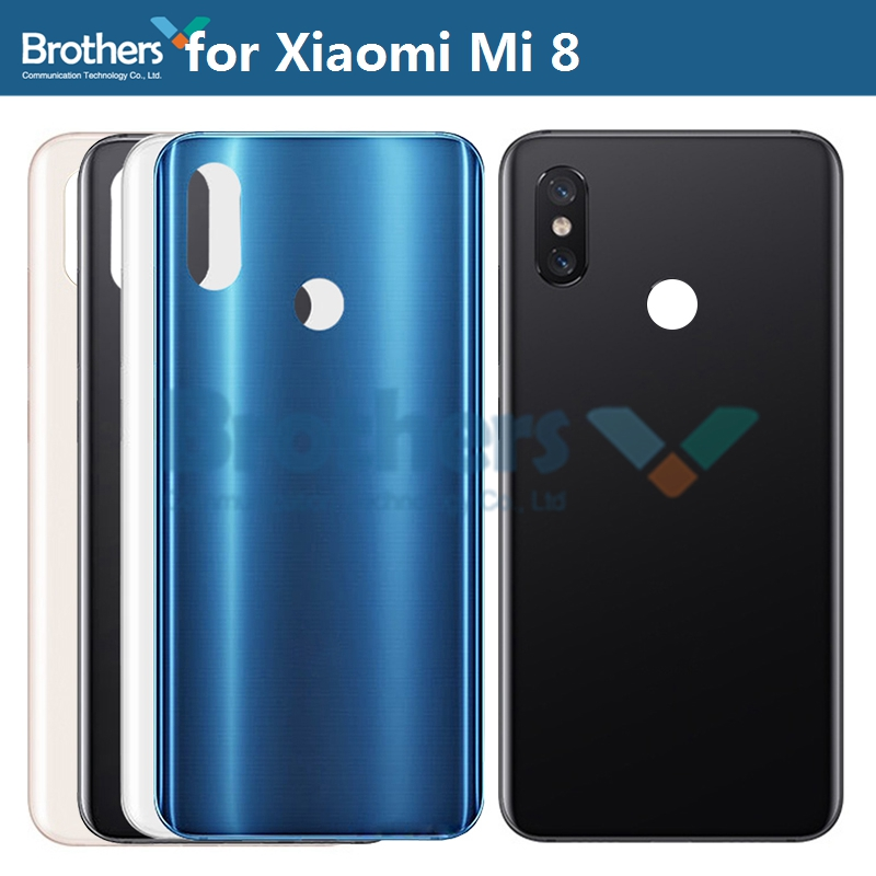 Original <font><b>Battery</b></font> Housing for <font><b>Xiaomi</b></font> <font><b>Mi</b></font> <font><b>8</b></font> Mi8 <font><b>Battery</b></font> Door without or with Camera Lens Glass Back <font><b>Cover</b></font> Rear Housing for M1803E1A image
