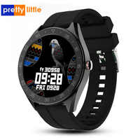 Q30 relógio inteligente homem rastreador de fitness com couro/silicone cinto smartwatch feminino monitor de freqüência cardíaca reloj inteligente pedômetro