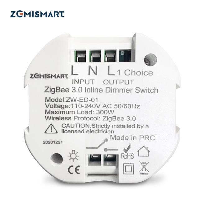 Zemismart Tuya Zigbee Dimmer Module SmartThings Control Alexa Google Home Control Smart Life APP Control 1