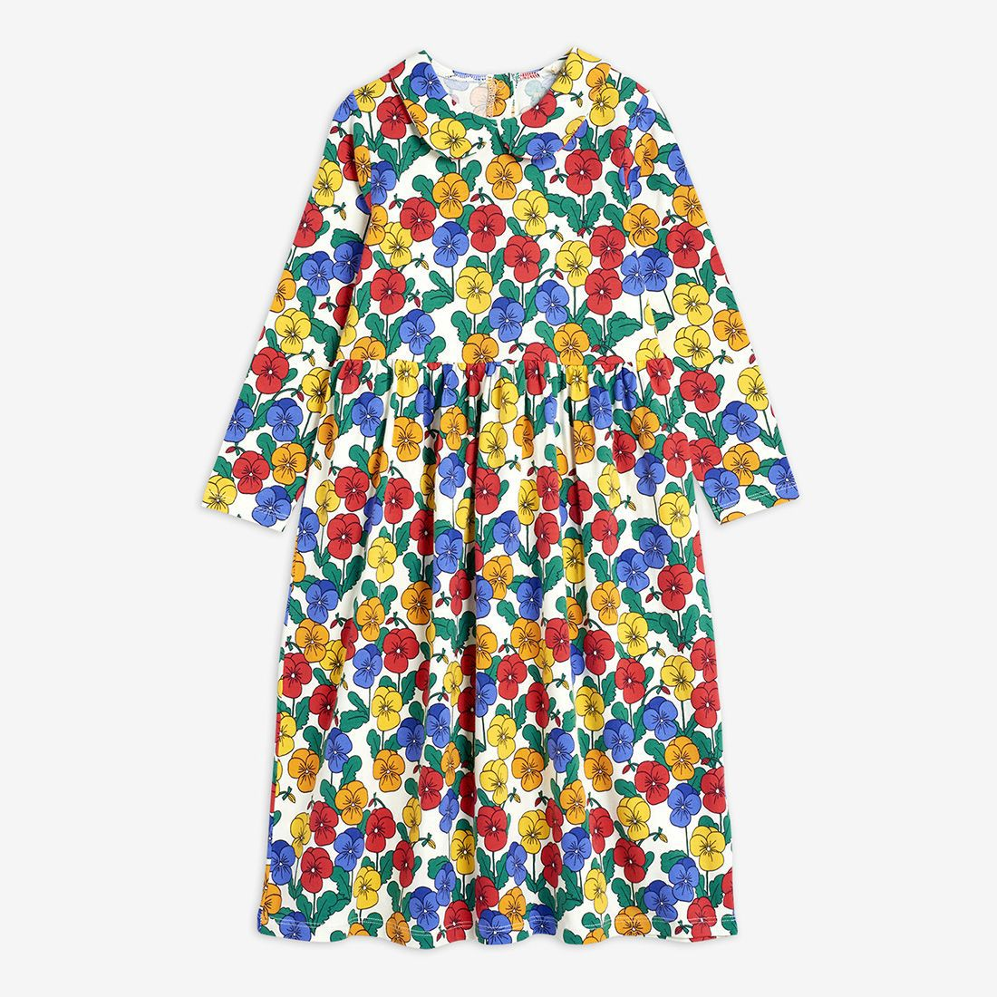 MINI Brand Kids Clothes T-shirts 2021 Autumn Girls Full Floral Pattern Dress Cotton Fashion Baby Romper Girl Boys Casual Pants 6