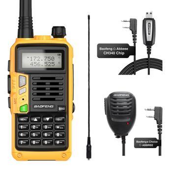 Baofeng UV-S9 plus com NA-771 mic 10w de longo alcance portátil poderoso transceptor atualização com walkie talkie rádio cb