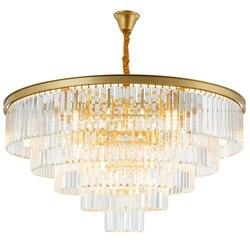 Jmmxiuz nowoczesny okrągły złoty żyrandol oświetlenie kryształowe restauracja amerykański kryształowy żyrandol