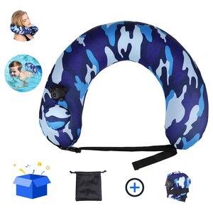 Портативный плавательный тренажер для детей, надувная подушка для шеи для путешествий на самолете H7JP