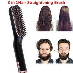 Alisamento de cabelo ferros barba aliciamento kit menino multifuncional homem barba alisador estilo multifuncional pente cabelo escova