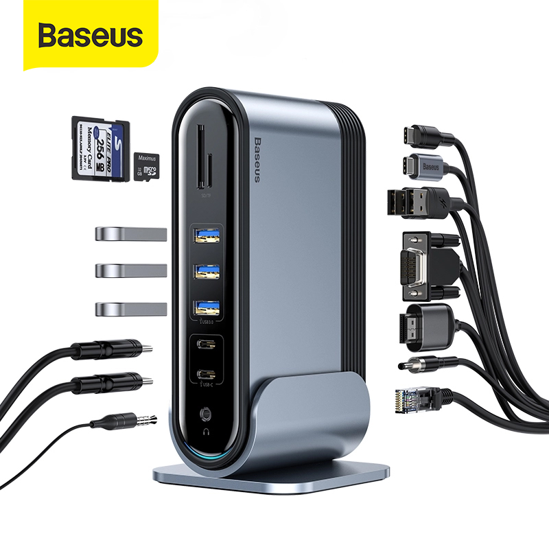 Baseus Type-C to SD TF Card Reader HUB Adapter For MacBook Laptop Mobile Phone