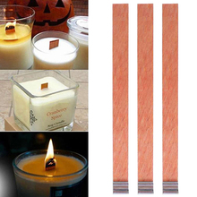 Wick Candles Wooden Supply Soy-Parffin-Wax with Sustainer Tab for 20pcs 75mm 130mm