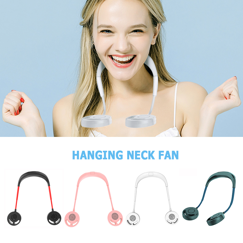 Headphone Design No Blades 3 Gears Adjustable Hands free Hanging Neck Fan Portable Summer USB Rechargeable Cooler Wearable Dual|USB Gadgets|   - AliExpress