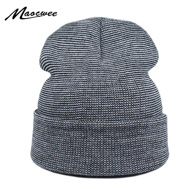 Spring Men Women Knitted Winter Cap Casual   Beanies   for Men Solid Hip-hop Slouch   Skullies   Bonnet Unisex Cap Hat Gorro 2018