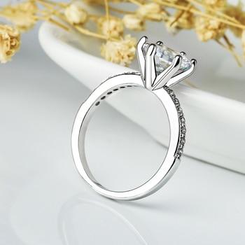 טבעת נישואין לוהטת עם קריסטלים
