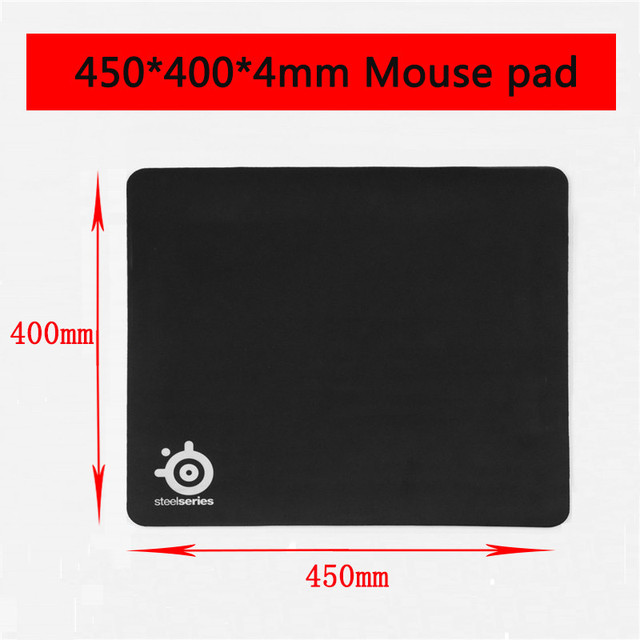 OEM SteelSeries Rubber Base Notebook Gaming Mouse Pad Computer Black Mousepad Gamer Laptop Keyboard Desk Mat without box