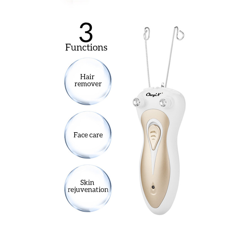Electric Lady Shaver Female Body Hair Remover Defeatherer Cotton Thread Depilator Beauty Care Machine Women Hair Removal Tool 40